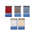10 (+- 7h) Taper White Candles