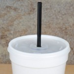 250 (5 x 24 mm) Black Straws