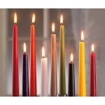 50 (+- 7,5h) Taper White Candles