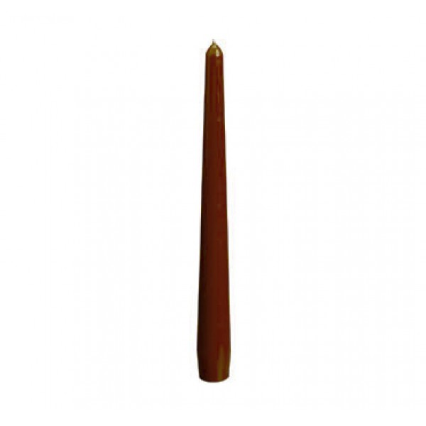 10 (+- 7h) Taper Brown Candles