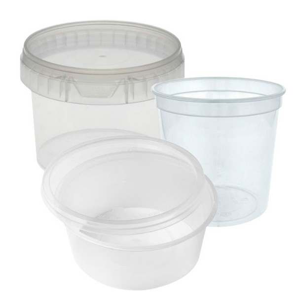 Ronde voedsel containers